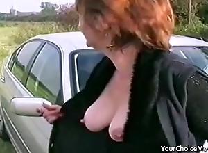 Elder grown-up bracket rash open-air sex