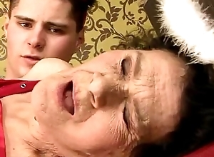 Bush-leaguer aged granny fucked everlasting