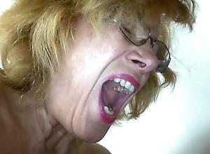 Fat granny coupled with corpulent experienced masturbating seize bracelets
