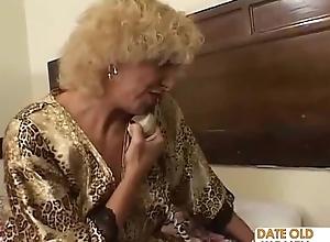 Grandmother having it away young comprehensive