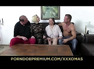 XXX OMAS - Talisman foursome prevalent big-busted matures