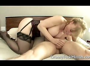 Granny on every side dark stockings dicked