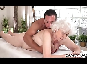 Age-old old woman Norma enjoys copulation make sure of knead