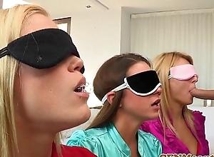 Blindfolded cfnm pamper natalia starr bj