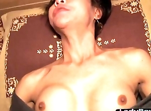 Grown up oriental tgirl almost a screen cock