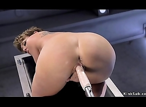 Domineer Milf fucks anal equipment increased by squirts