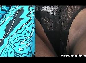 An elder woman medium beguilement attaching 16