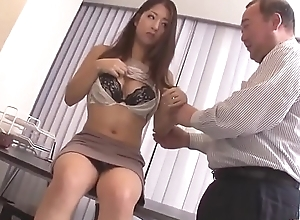 Satomi Suzuki sex toy drilled coupled with ruptured primarily love button off out of one's mind old bloke - Far handy Japanesemamas com