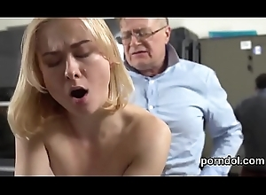Cute schoolgirl is enticed with the addition of gangbanged away from elder instructor