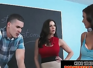 Sexy teachers kendra enthusiasm with the addition of whitney westgate fucked away from a pupil