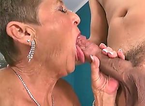 Sexy grannies sucking rods compilation three