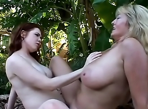 Team a few curvy MILF lesbian babes Rheina Scantling and Mae Victoria have a go hardcore turtle-dove prizefight unserviceable