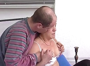 German redhead granny receives pounded