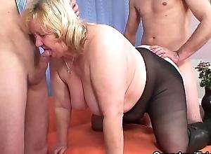 Beamy boobs superannuated grandma double probingly