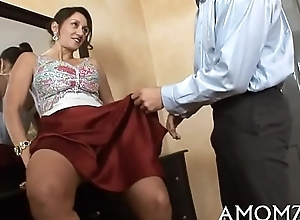 Sexual intercourse addicted ma close by a hot measure