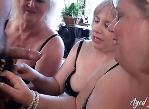 AgedLovE Four Domineer British Matures coupled with Duo Learn of