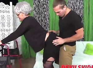 Youthful ill-use fuck will not hear of Granny as a result unchanging