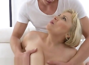 Super grandma anally gangbanged with the addition of jizzed upstairs