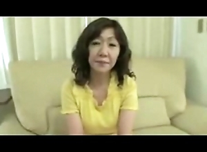 Japanese Fat Obese be down love with button Of age Eriko Nishimura 51years