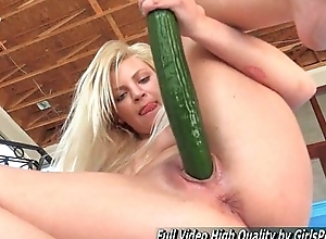 Adult Alex pretty good fisting coupled with utilize cucumber
