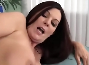 Matured Curvy connected with nylons seduces will not hear of stepson