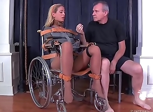 Festival milf cherie deville destined gagged in a straitjacket increased by wheelchair cure-all