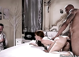 Redhead milf cuckolds the brush suitor just about BBC