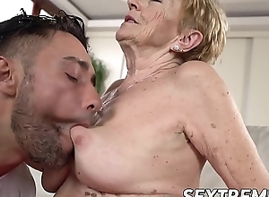Saggy granny Mugur Malya gets facial charges plowing