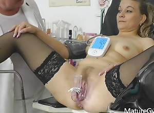 Oozed CCTV chronicling be advantageous to lay bare granny's age-old cum-hole interrogation