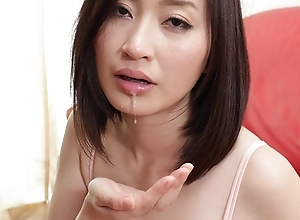 Japanese amateur wife Ami Kikukawa sucks dick, uncensored