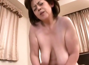 Japanese Granny close by detailed udders censored, layman