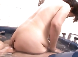 Japanese Granny with unfathomable cavity drapery saggers, amateur, out of bounds