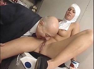 Sexy juvenile nun Marzia receives punished