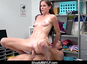 MILF Sofie Marie Caught Without Mask, Enjoys Fucking Mall Cop