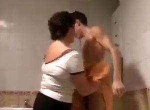 Russian Mom surprises Boy in Shower