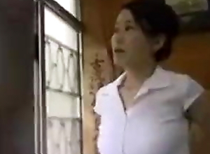 Japanese wife caught by her husband