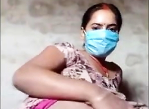 Face Masked Village Wife Does Live Cam Show To Earn Money