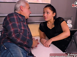 18yo young stepdaughter fucks old man, stepfather, grandpa