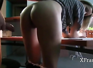 Sex with his milf wife at the office