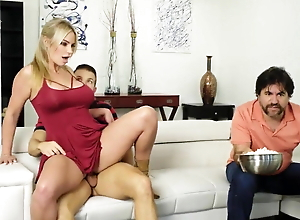 Mom and hot Son Caught Fucking by Dad