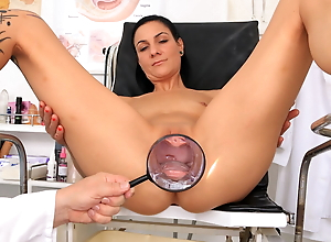 Super hot MILF examined by kinky doctor
