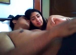 Indian desi gf Anamika sucking, kissing and handjob to bf