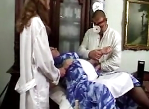 Pregnant threesome with doctor and nurse, LOW QUALITY