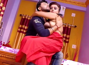 Red Saree Bhabhi Has Hardcore sex With Boss while husband is not at hom