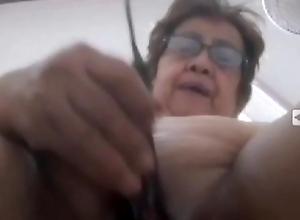 my Filipina granny with her eggplant dildo – so wet pt2.