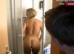 Blonde Danish Stepmom Fucked in the Shower