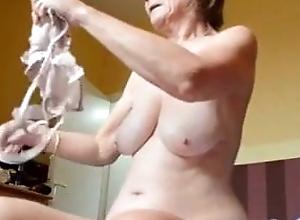 Grandma gets dressed