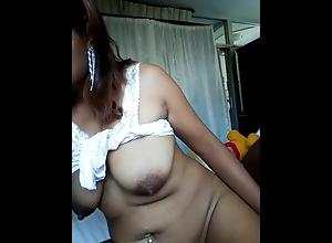girl shaving her hairy pussy and masturbating
