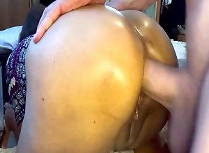 second ass fucking of the day with Filipina while on her phone