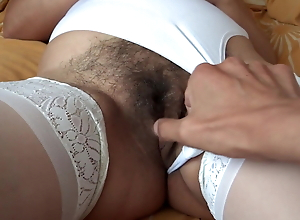 58-YEAR-OLD EROTIC MOTHER SHOWING OFF HER HAIRY PUSSY